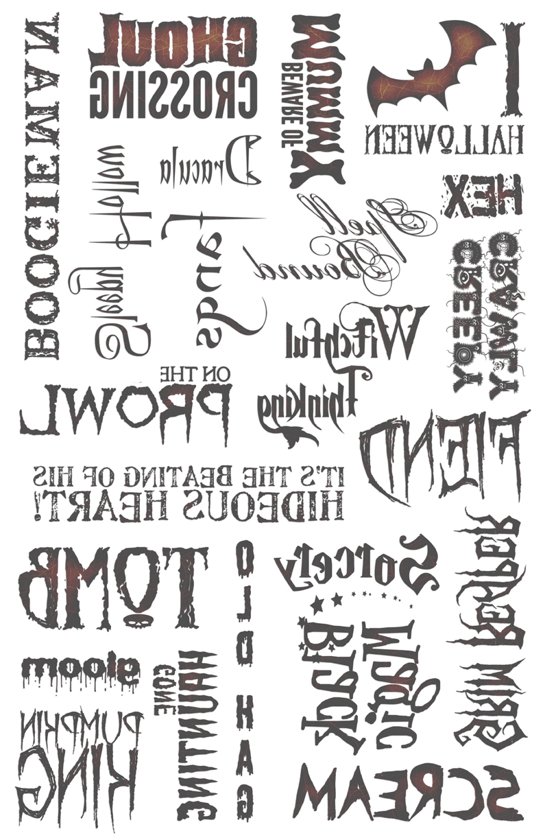 """Haunted Words Image Transfer Paper - 16"""" x 10.5"""""""