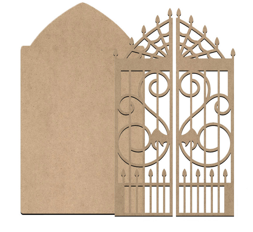 Gothic Tombstone and Gate