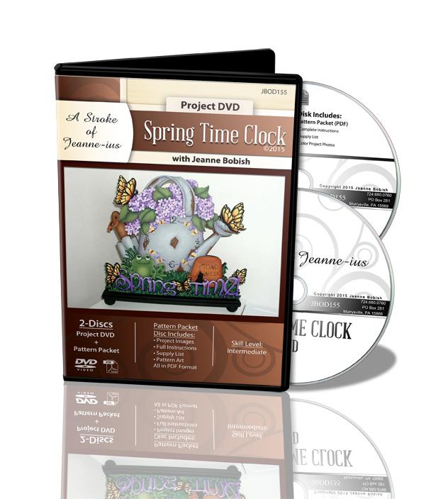 Spring Time Clock DVD - Jeanne Bobish