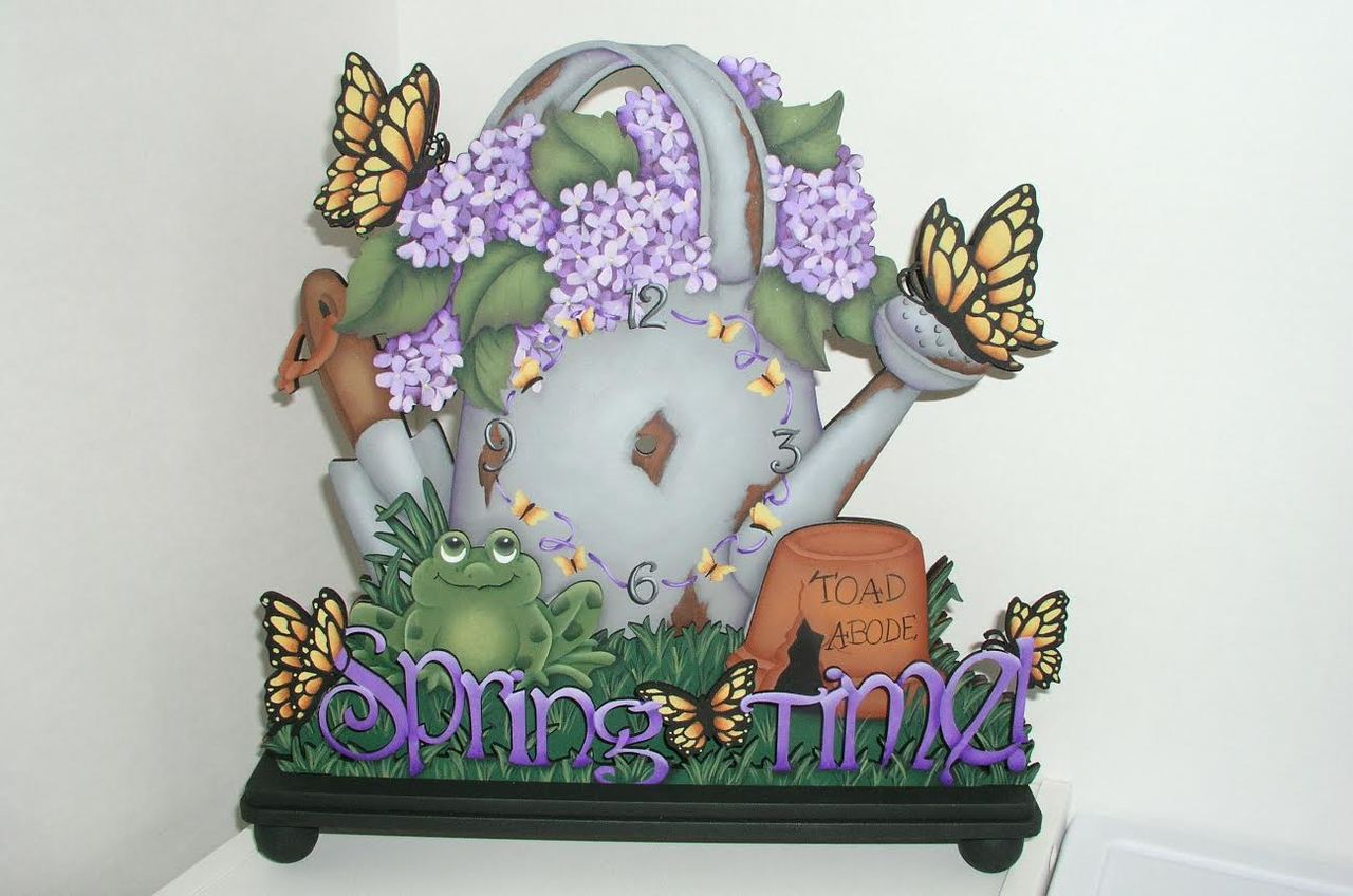 Spring Time Clock - E-Packet - Jeanne Bobish