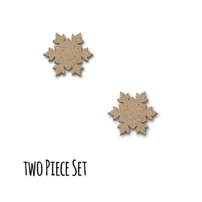 Snowflake Embellishment Set  - Mini - 2pc
