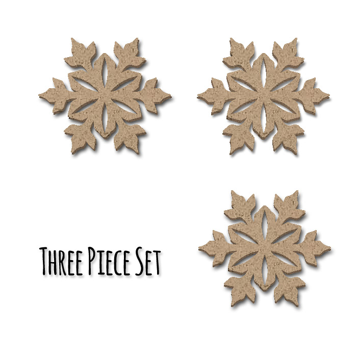 Snowflake Embellishment Set  - 3pc