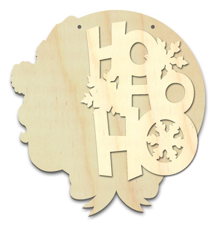 "Ho Ho Ho Multipart Word Surface - Plaque - 10"" x 10 1/2"""