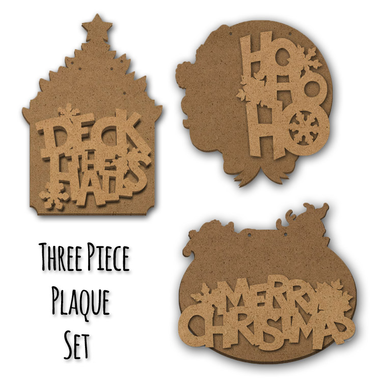 Christmas Expressions Plaque Surface Set