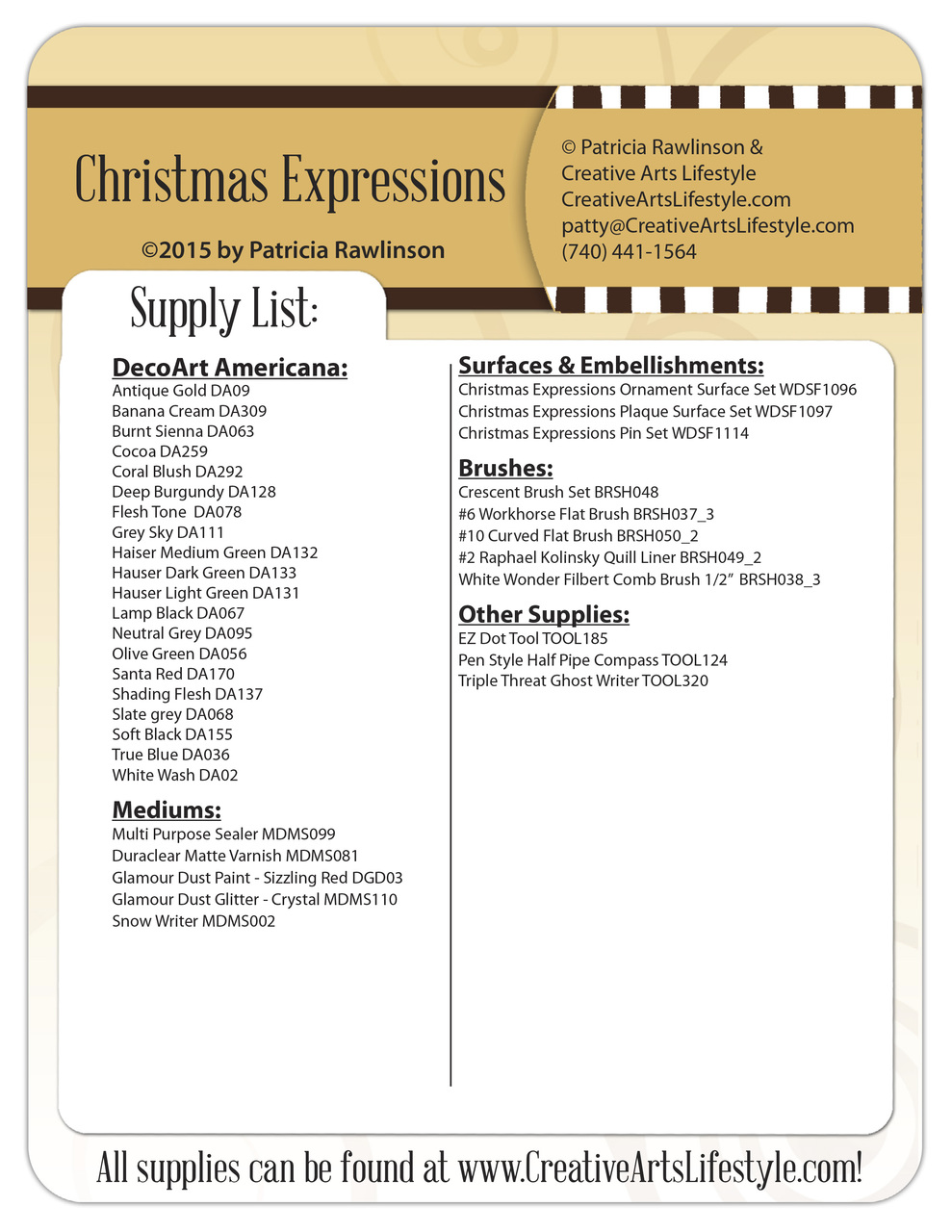 Christmas Expressions Pattern Packet - Patricia Rawlinson