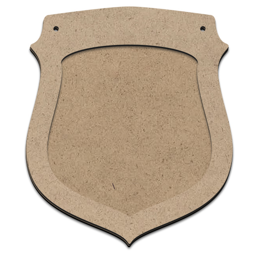 """Shield Ornament Plaque with Overlay - 4"""""""
