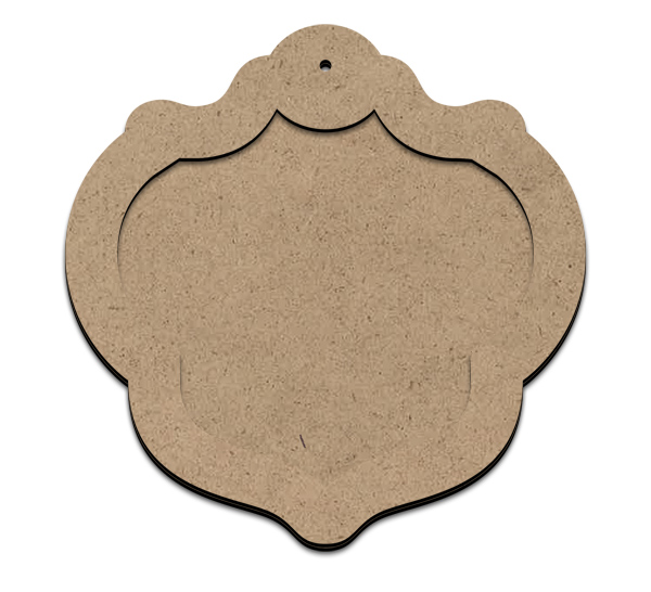 """Versailles Ornament Plaque with Overlay - 4"""""""