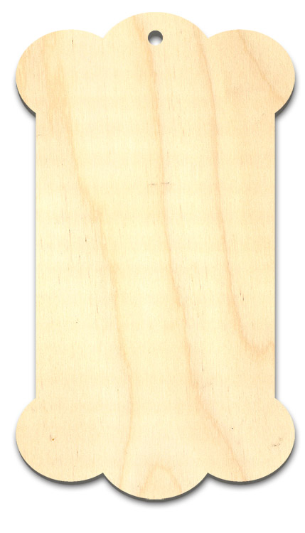 Carnivale Wood Tag Surface - 6""
