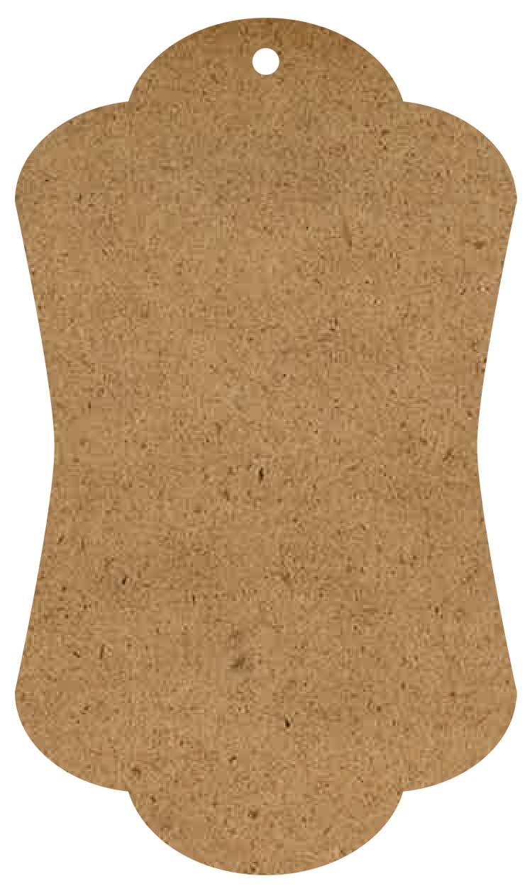 """Elegant Wood Tag Surface - Mini - 6"""""""