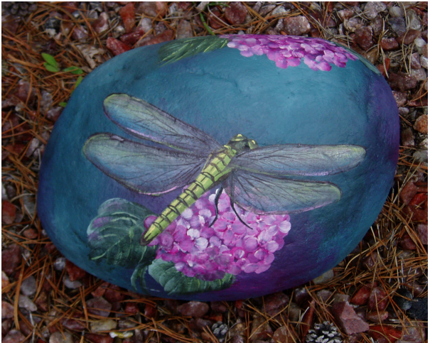 Dragonfly Rock or Coasters - E-Packet - Wendy Fahey