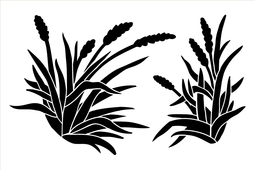 Harvest Wheat Art Stencil