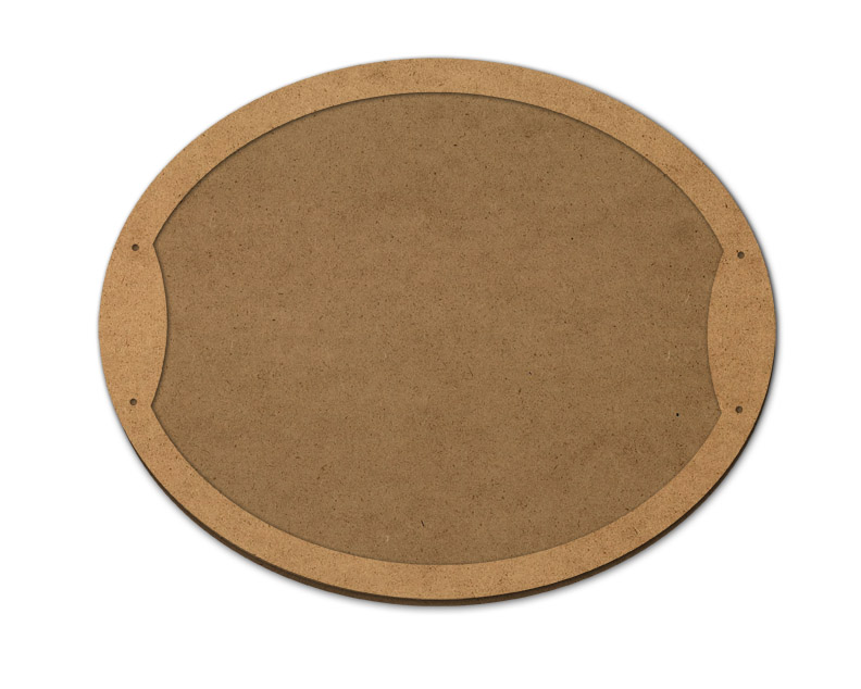 """Wood Oval Serving Tray - 17 1/2"""" x 14"""""""