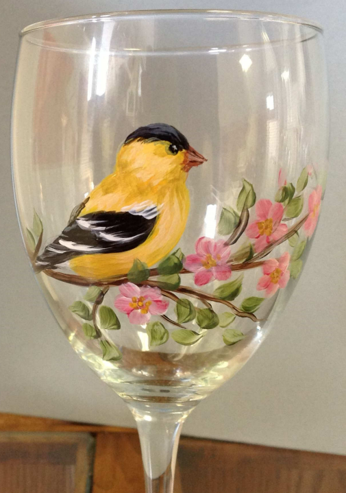 Goldfinch and Apple Blossoms - E-Packet - Wendy Fahey
