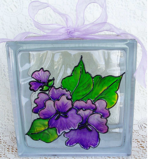 Pansy Glass Block - E-Packet - Wendy Fahey