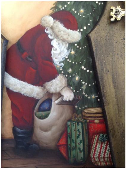 Peeking Santa - E-Packet - Wendy Fahey