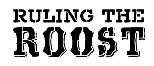 """Ruling the Roost - Word Stencil - Country Victorian - 7"""" x 3"""""""
