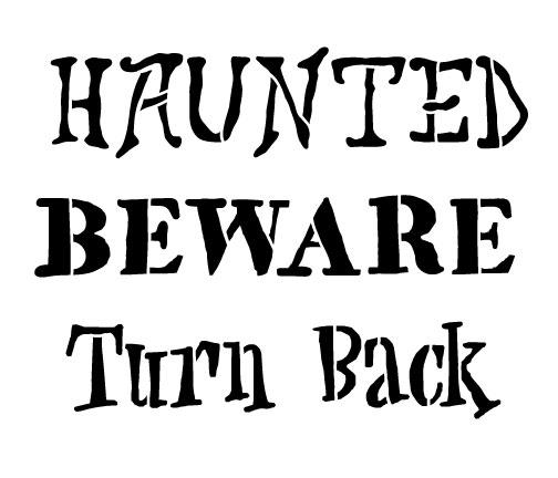 Halloween Sign Words Stencil
