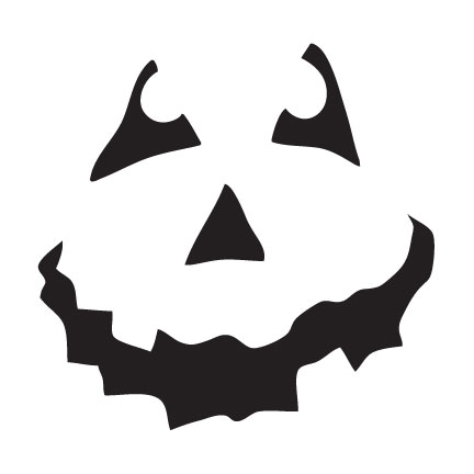 """Halloween - Pumpkin Face Art Stencil - 6"""" X 6"""" - STCL761_1 - by StudioR12"""
