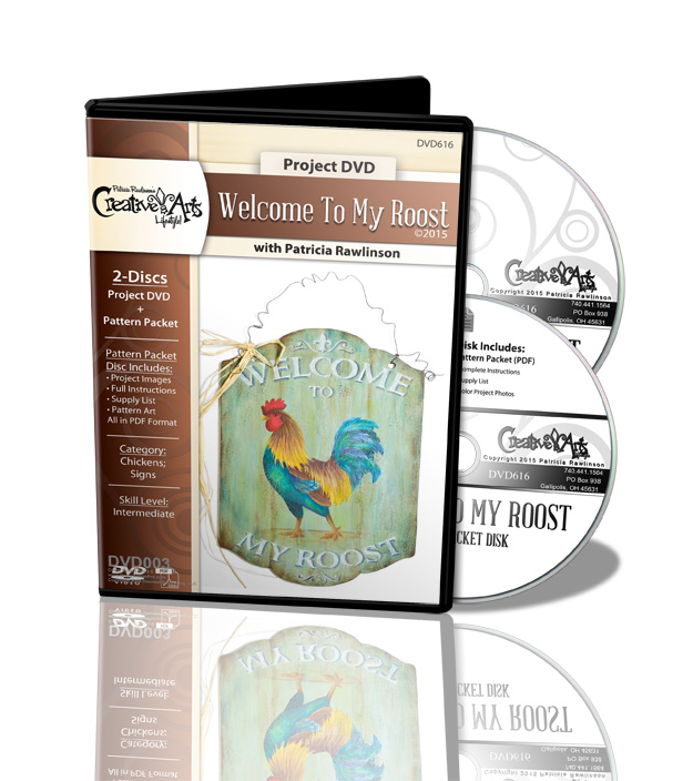 Welcome To My Roost DVD and Pattern Packet - Patricia Rawlinson
