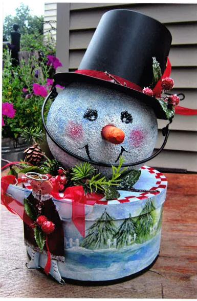 Winter Scene Snowman Box - E-Packet - Sonja Richardson