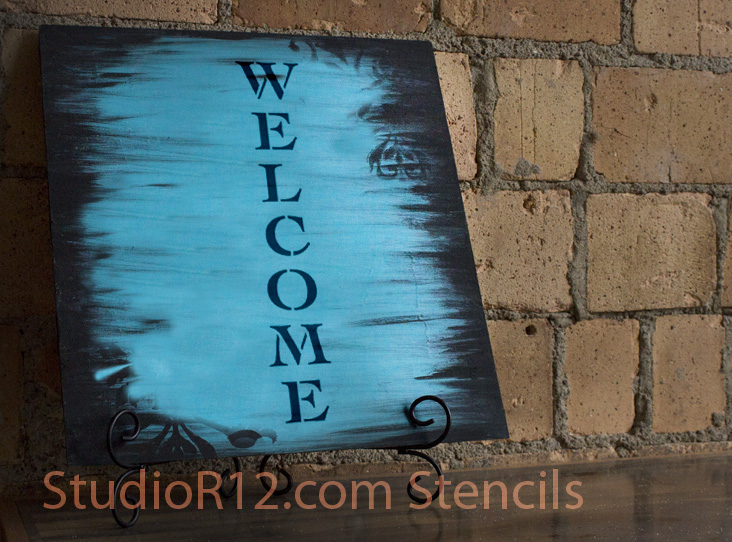 Word Stencil - Welcome - Classic Vertical 30 x 6