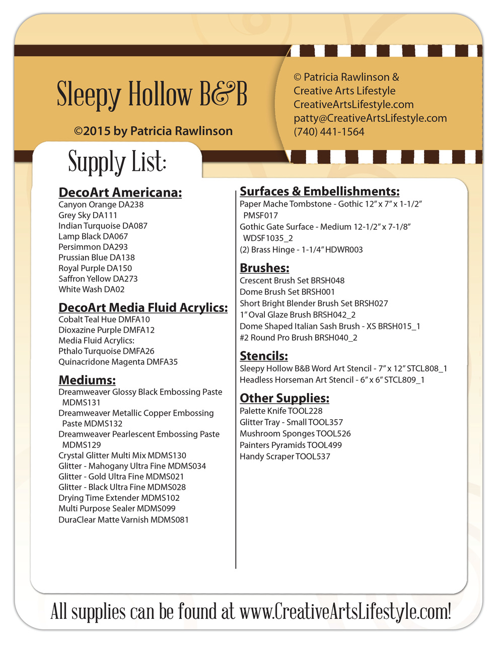 Sleepy Hollow B&B Pattern Packet - Patricia Rawlinson