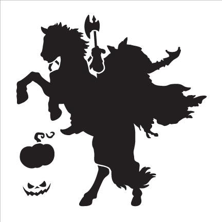 "Headless Horseman Art Stencil- 6""X6"""