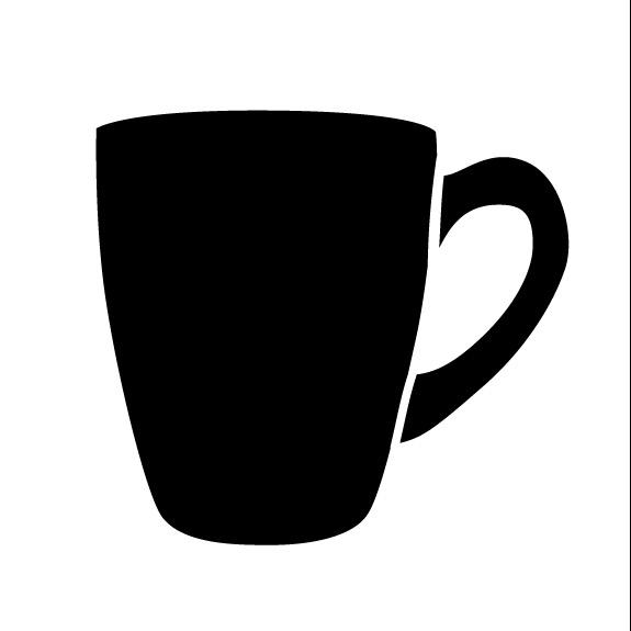 """Tall Coffee Cup Art Stencil 9"""" X 9"""""""