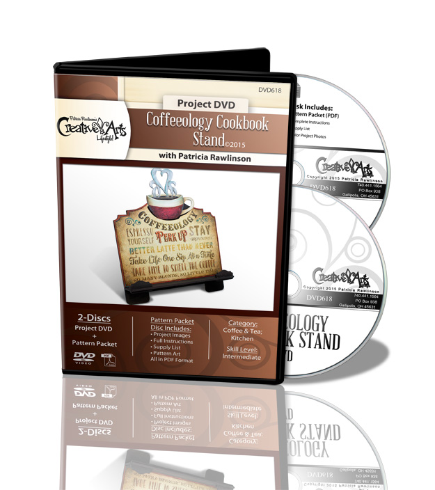Coffeeology Cookbook Stand DVD and Pattern Packet - Patricia Rawlinson