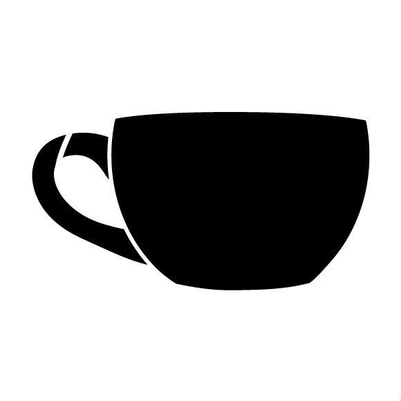 "Short Coffee Cup Art Stencil- 8.5"" X 11"""