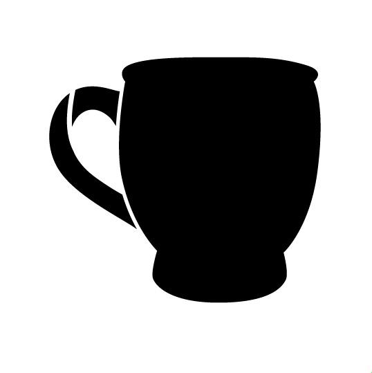 "Coffee Mug Art Stencil 4"" X 4"""