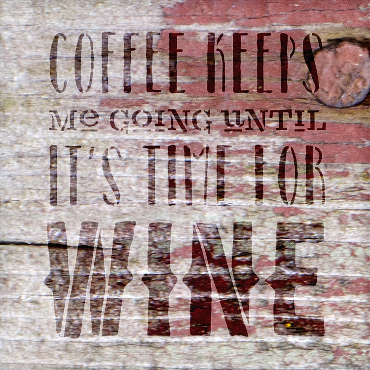 "Coffee Keeps Me Going Word Art Stencil 19.5"" X 24"" - STCL836_6 - by StudioR12"
