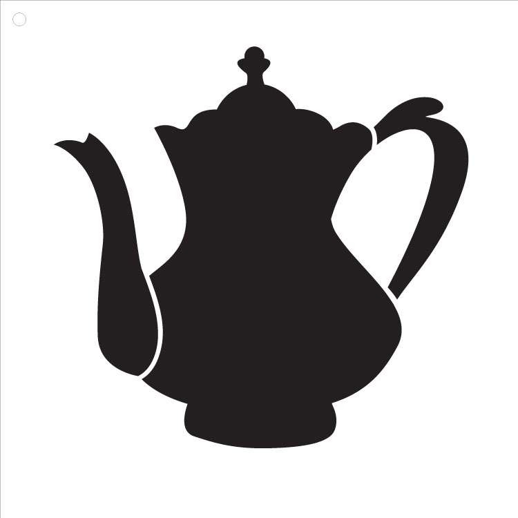 "Fancy Teapot Art Stencil 4"" X 4"""