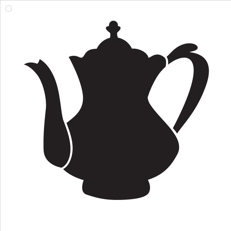 "Fancy Teapot Art Stencil 10"" X 10"""