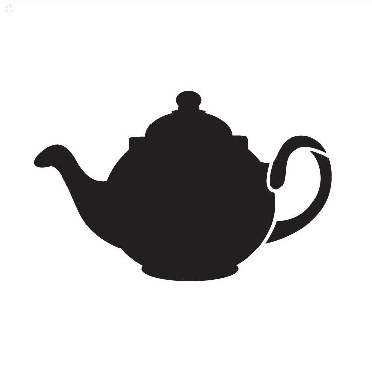 """Little Teapot Art Stencil 10"""" X 10"""""""