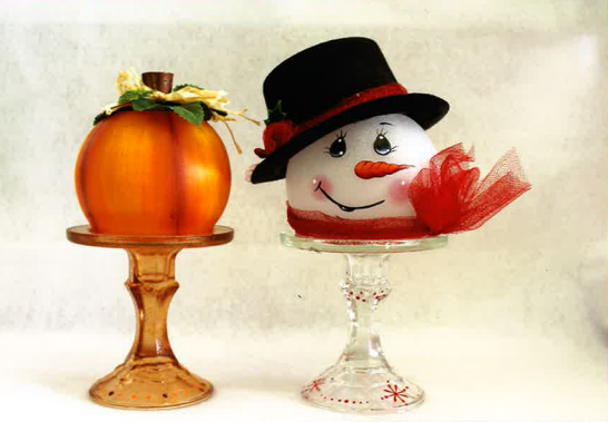 Pumpkin and Snowman Globes - E-Packet - Tami Carmody