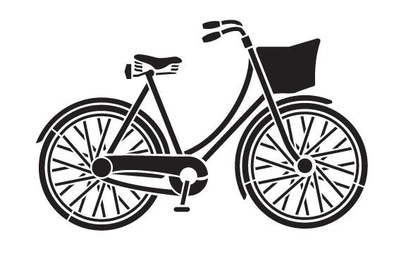 "Vintage Bicycle Art Stencil- 8.5"" X 11"""