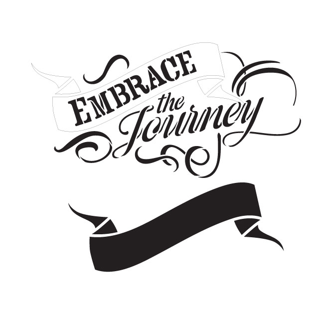 "Embrace the Journey Word Art Stencil 15"" X 15"""