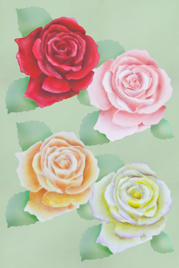 Easy Elegant Stenciled Roses Pattern Packet - Patricia Rawlinson