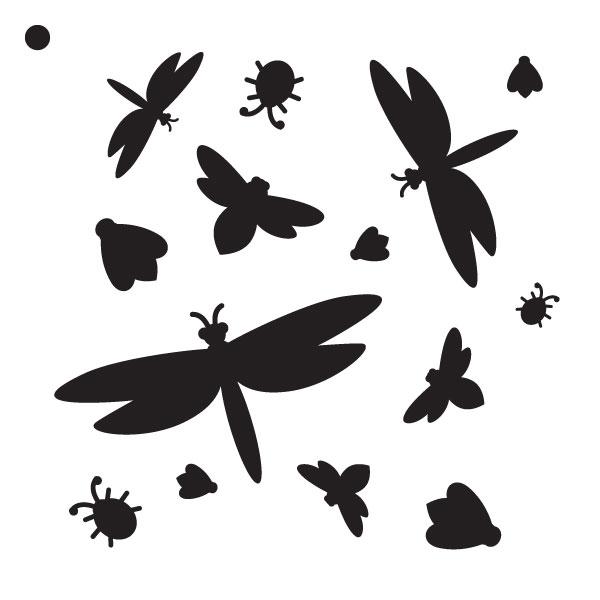 "Bugs Life - Pattern Stencil - 6"" x 6"""