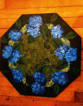 Hydrangea Lazy Susan - E-Packet - Donna Scully