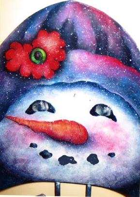Snowman Shovel - E-Packet - Donna Scully