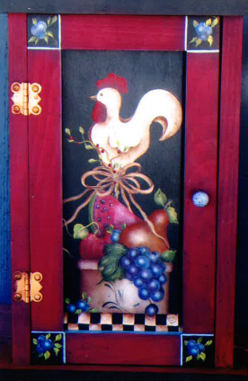 Rooster & Fruit Key Cabinet -E-Packet - Donna Scully