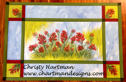 Indian Paintbrush Floor Cloth - E-Packet - Christy Hartman