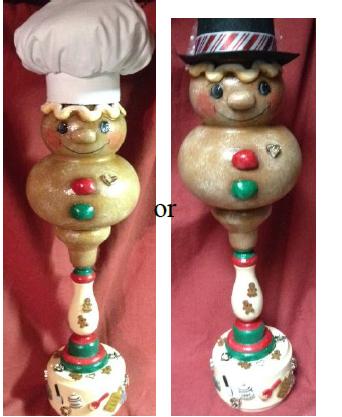 Gingerbread Ornament Candlestick - E-Packet - Debbie Huska