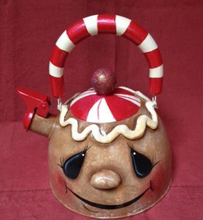 Gingerbread Tea Kettle - E-Packet - Debbie Huska