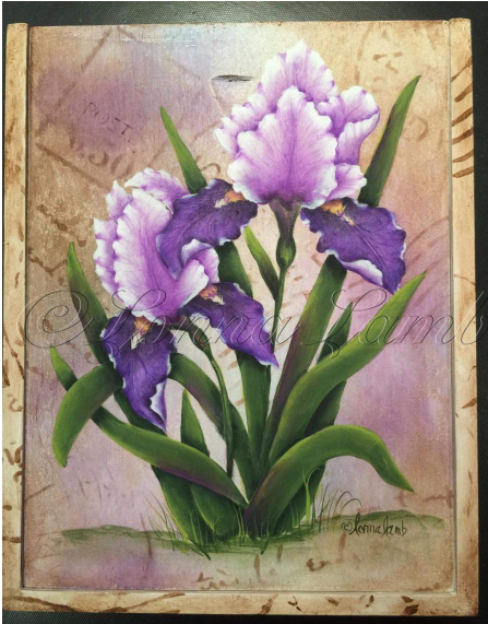 Iris In Bloom - E-Packet - Lonna Lamb