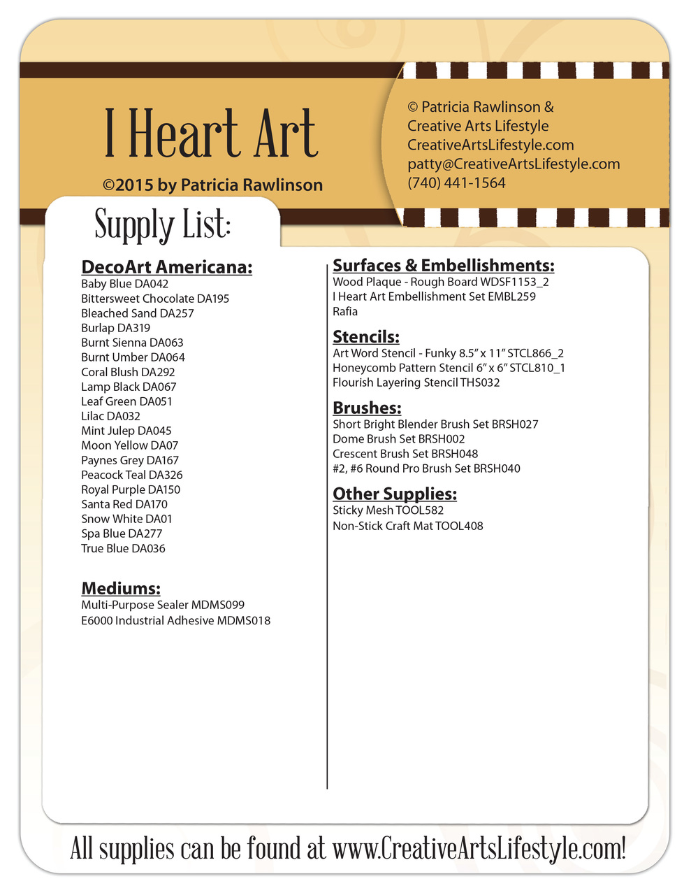 I Heart Art Pattern Packet - Patricia Rawlinson