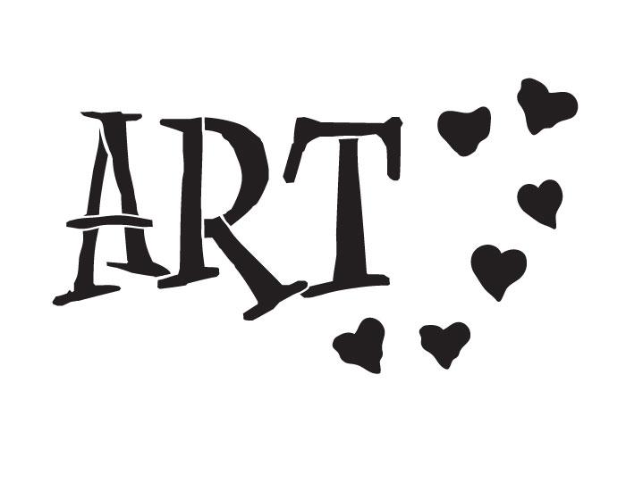 """Art Word Stencil - Funky (11"""" x 8.5"""")"""