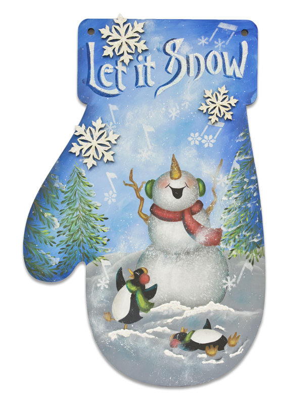 Let It Snow Mitten - E-Packet - Patricia Rawlinson
